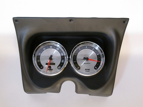 "67-68 Camaro 2-Hole Black Classic Dash with American Muscle Autometer 5"" Speedo & Tach"