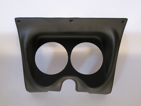 "67-68 Camaro 2-Hole Black Classic Dash for 5"" Gauges - without Gauges"