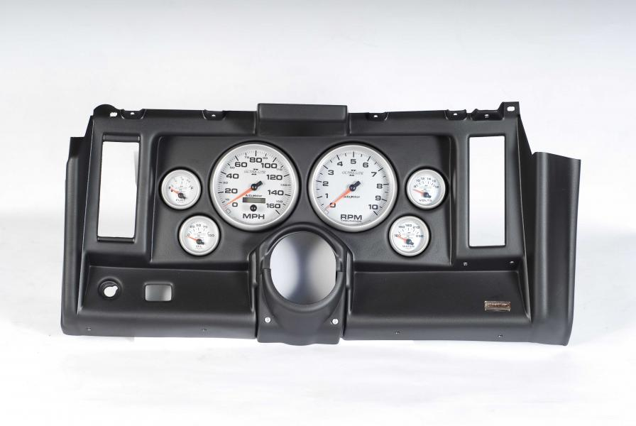 69 Camaro Classic Dash 6 Hole Black Panel with Ultra-Lite II Gauges