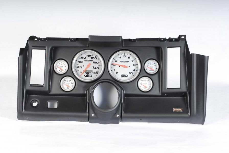 69 Camaro Classic Dash 6 Hole Black Panel with Ultra-Lite Gauges