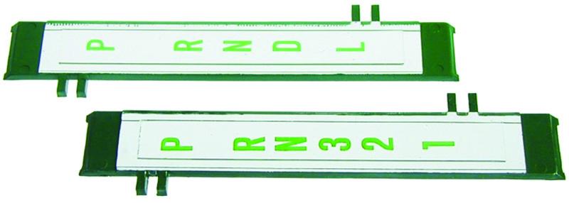 67 Camaro Center Console Shift Plate Indicator Lens