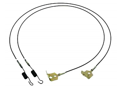 67-68-69 Camaro / Firebird Convertible Top Torsion Cables, Pair
