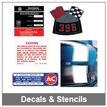 67-69 Camaro Decals & Stencils