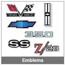 67-68-69 Camaro Emblems