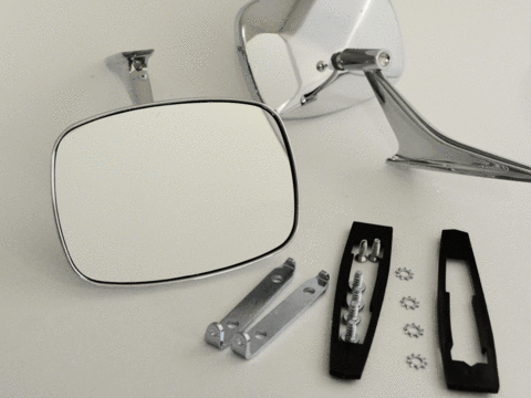 68-69 Camaro Outer Door Mirrors, CLEAR SHOT Mirrors, Pair