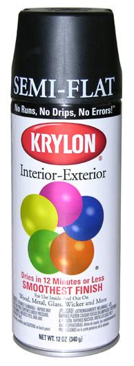 Krylon Semi-Flat Black