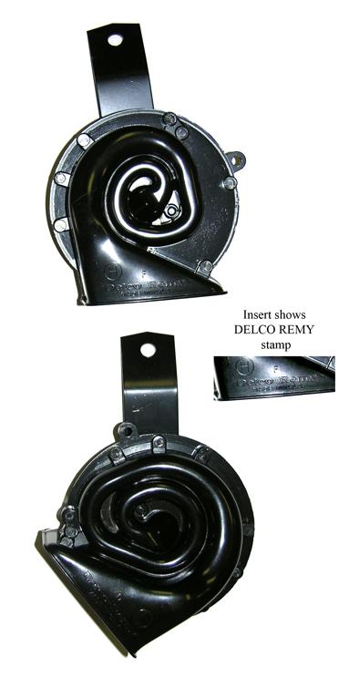 69 Camaro Low/High Note Horn w Delco Stamp & Bracket