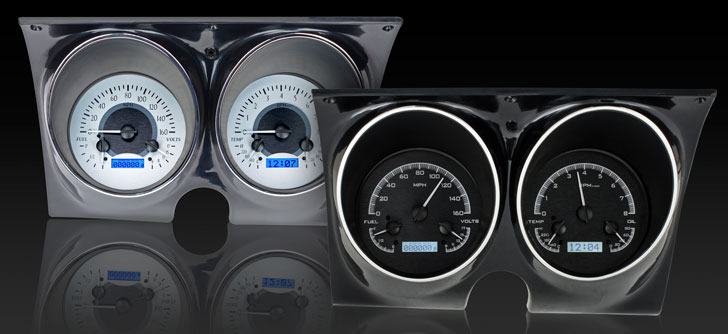 67-68 Camaro VHX Dakota Digital Gauges-Blue Lighting