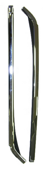 67-69 Camaro Quarter Window Vertical Chrome Molding, pair