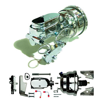 67-69 Camaro ADD-ON:  Brake Conversion Kit Upgrade to Show-Stopper Chrome Standard Booster