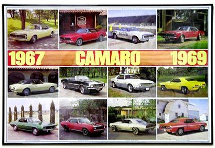 67-69 Camaro Poster