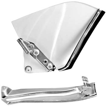 67-69 Camaro Coupe Quarter Window Assembly - Clear Glass