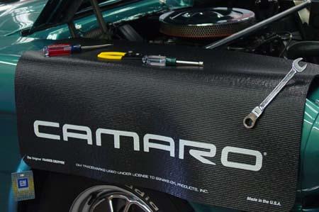 Camaro Block Script Black Fender Gripper