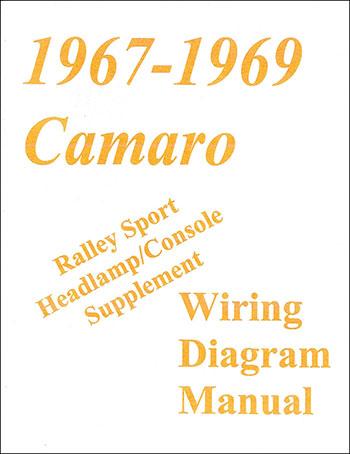 67 69 Rs Camaro Wiring Diagram Manual Headlamp Console Supplement