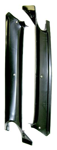 67 F-body Black Pillar Post Molding, Pair