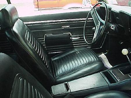 69 Camaro Standard Rear Seat Covers