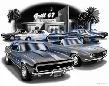 67 Camaro Grill Diner Print