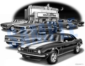 68 Camaro Movie House Print