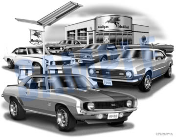 67-69 Camaro Heritage Mobile Print