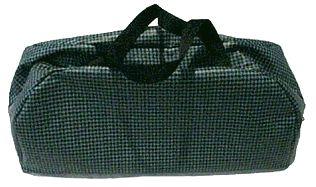 Aqua and Black Tote Bag