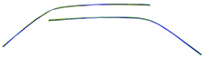 67-69 Camaro Roof Drip Molding Piece -Roof Side Moldings, each