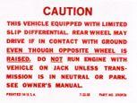 67-69 Camaro Positraction Decal