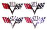 67 Camaro Non Original V-Flag Emblems