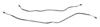 Rear Axle Brake Lines Monoleaf - OEM Style