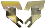 Lower Coupe Outer Glass Molding Clips, pair