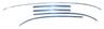 67-69 Camaro Convertible Windshield Molding Set