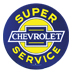 Super Chevrolet Service Tin Sign