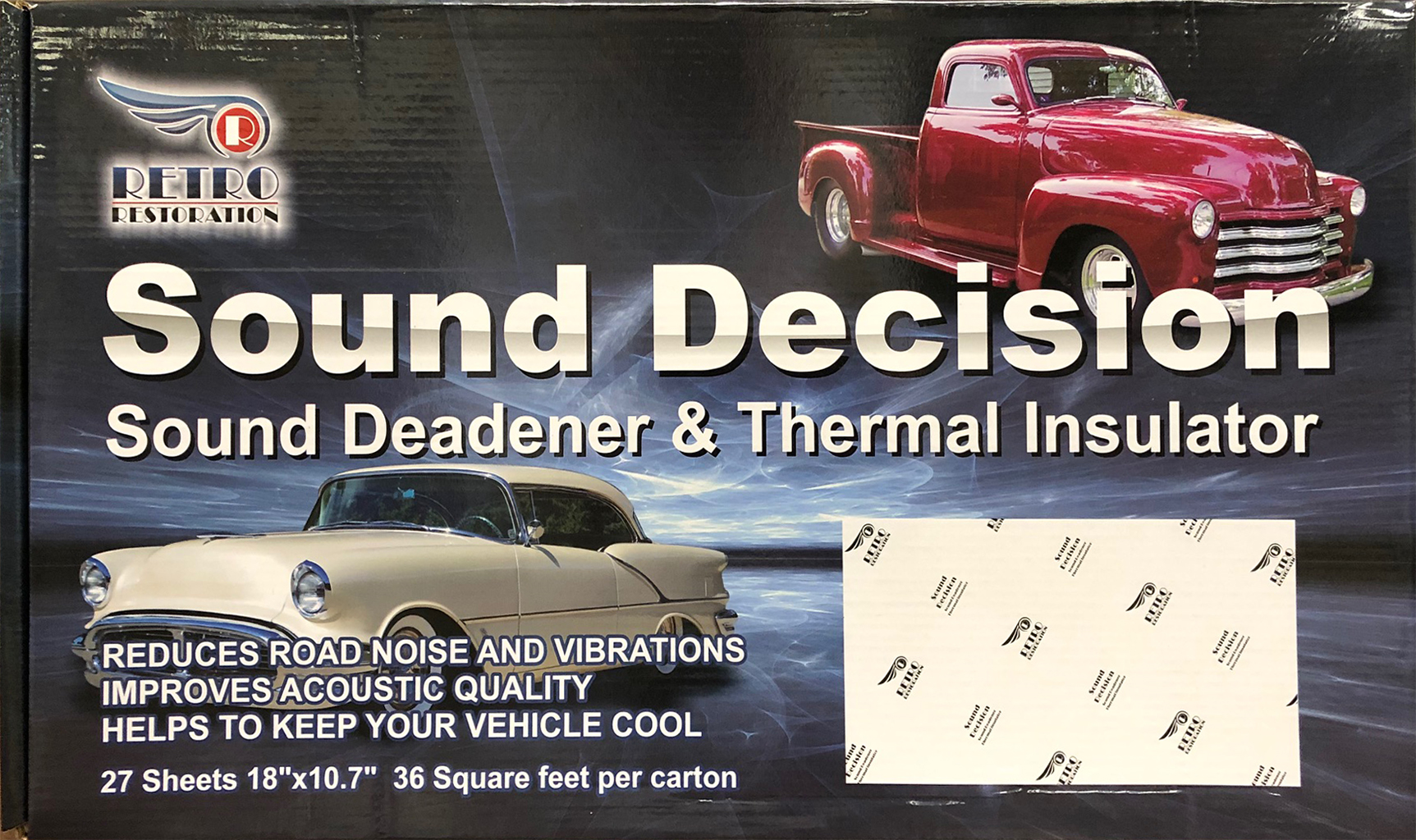 Retro Sound Deadener & Thermal Insulator-36 Sq Feet