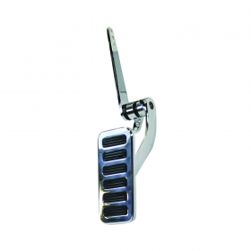 "2"" x 4.5"" Firewall Mounted Polished Aluminum Gas Pedal"